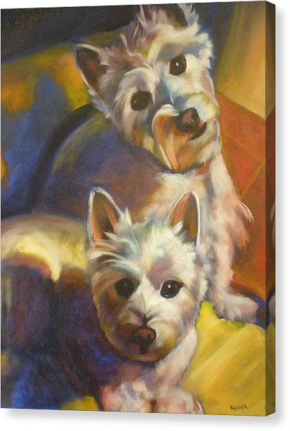 Bella And Zoey Canvas Print