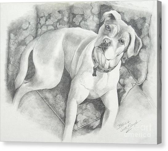 Bella My Pup Canvas Print