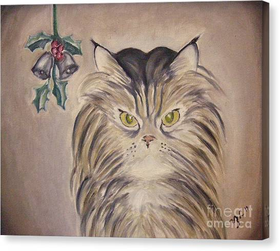Belle With Silver Bells Canvas Print