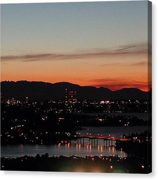 Lake Sunsets Canvas Print - #bellevue by Kelly Hasenoehrl