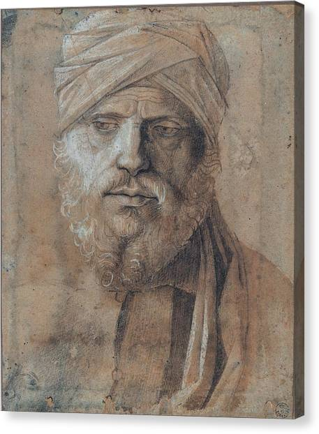 The Uffizi Gallery Canvas Print - Bellini Giovanni, Man With Turban, 15th by Everett