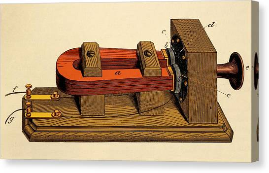 Electronic Instruments Canvas Print - Bell's Long Distance Telephone. by David Parker