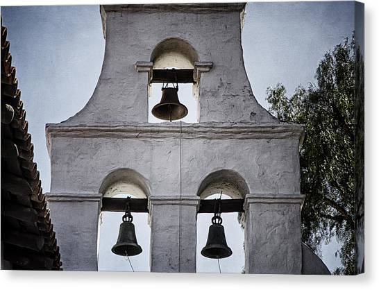 Mission San Diego Canvas Print - Bells Of Mission San Diego Too by Joan Carroll