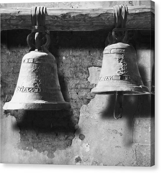 Bells Of San Juan Capistrano Canvas Print by Larry Butterworth