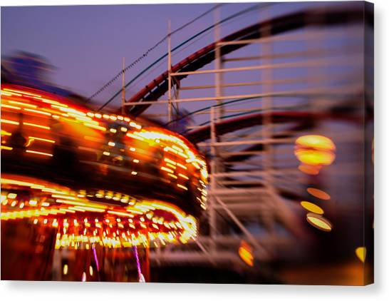 Did I Dream It Belmont Park Rollercoaster Canvas Print