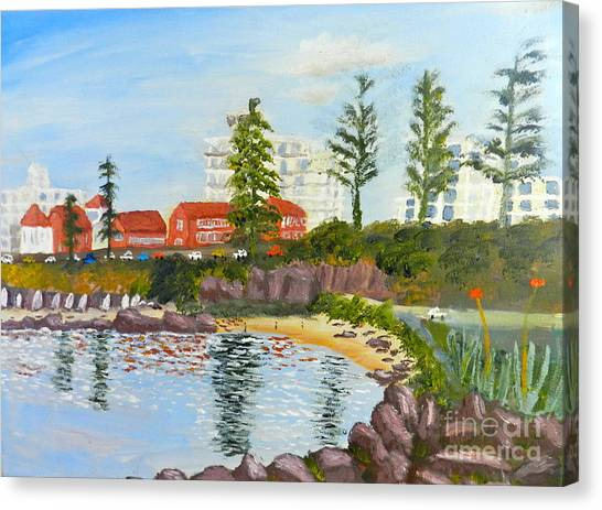 Belmore Basin From The North Sea Wall Canvas Print