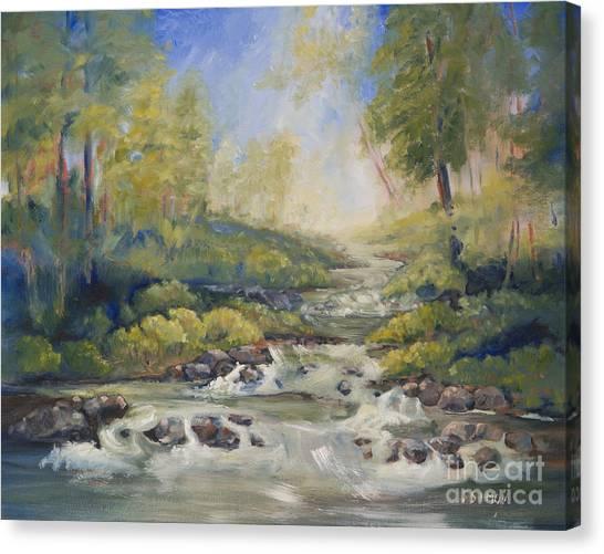 Below Amicalola Falls Painting Canvas Print