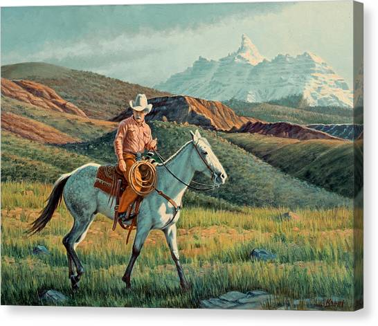 Wyoming Canvas Print - Below Ram's Horn   by Paul Krapf