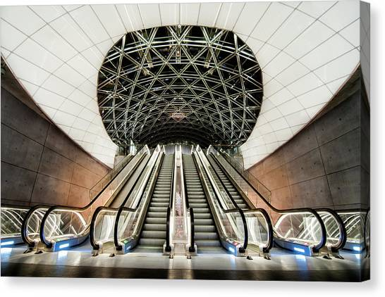 Subway Canvas Print - Below The Concrete Surface by Jacek Oleksinski