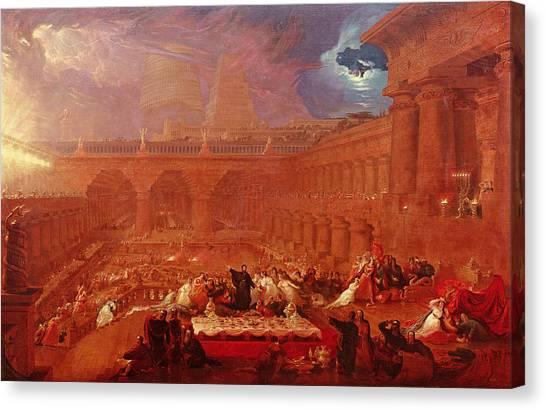 Old Testament Canvas Print - Belshazzars Feast, 1820 by John Martin