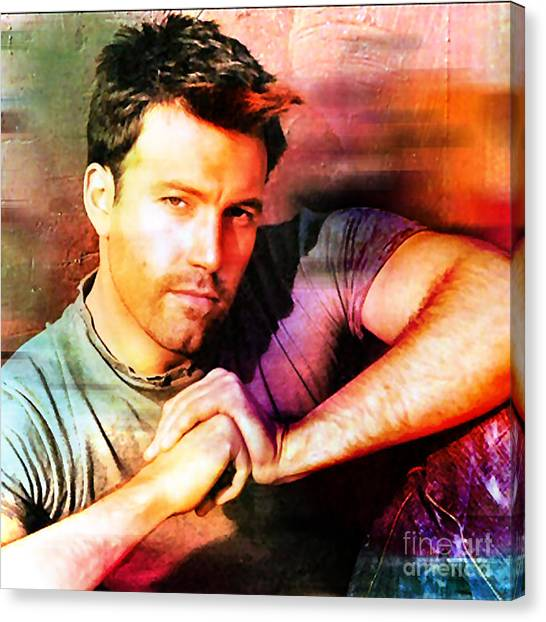Ben Affleck Canvas Print - Ben Affleck by Marvin Blaine
