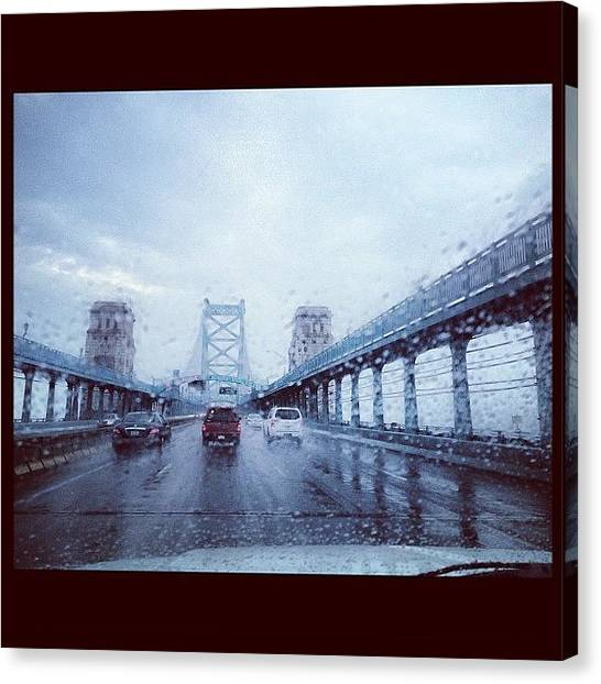 Interstates Canvas Print - Ben Franklin Bridge by Michael Maiale