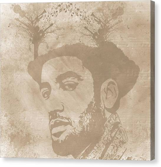 Music Genres Canvas Print - Ben Harper Music Man by Dan Sproul