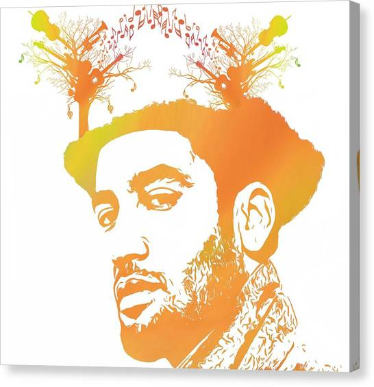 Music Genres Canvas Print - Ben Harper Pop Art by Dan Sproul