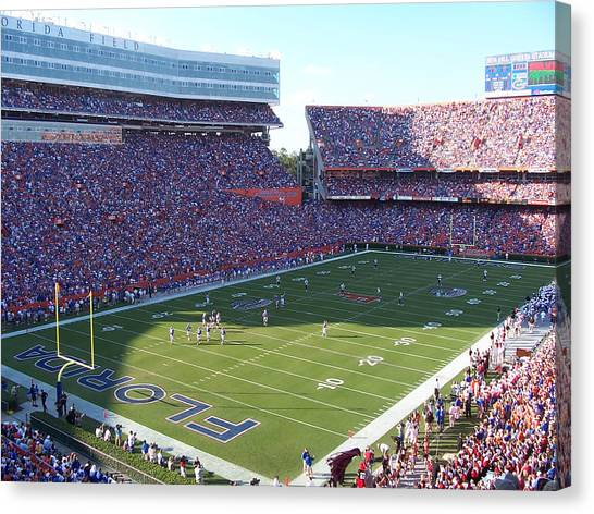 University Of Florida Canvas Print - Ben Hill Griffin Stadium by Georgia Fowler