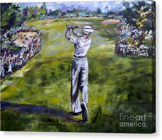 Ben Hogan Golf Painting Canvas Print