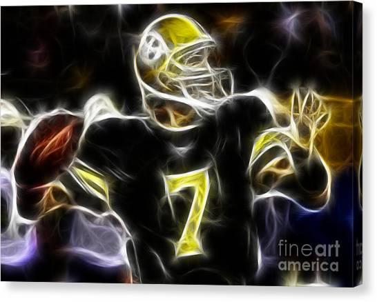 Ben Roethlisberger Canvas Print - Ben Roethlisberger  - Pittsburg Steelers by Paul Ward