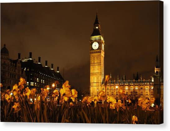 London Canvas Print - Ben With Flowers by Mike McGlothlen