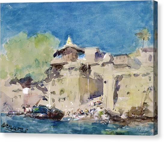 Ganges Canvas Print - Benares Wc by Hercules Brabazon Brabazon