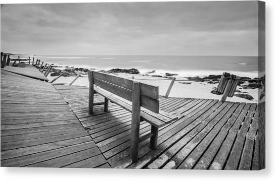 Bench With Swirl Canvas Print