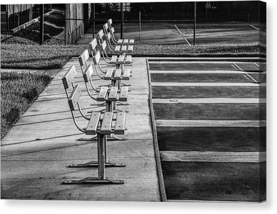 Benches At The Ready Canvas Print
