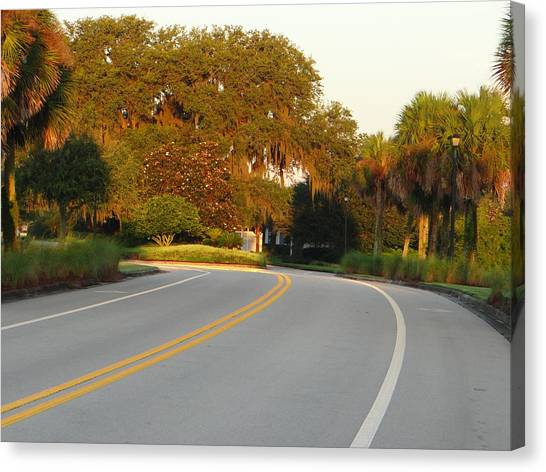 Bend In Road Canvas Print