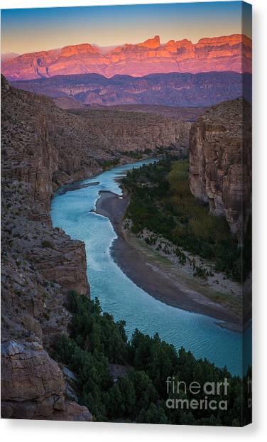 North Rim Canvas Print - Bend In The Rio Grande by Inge Johnsson