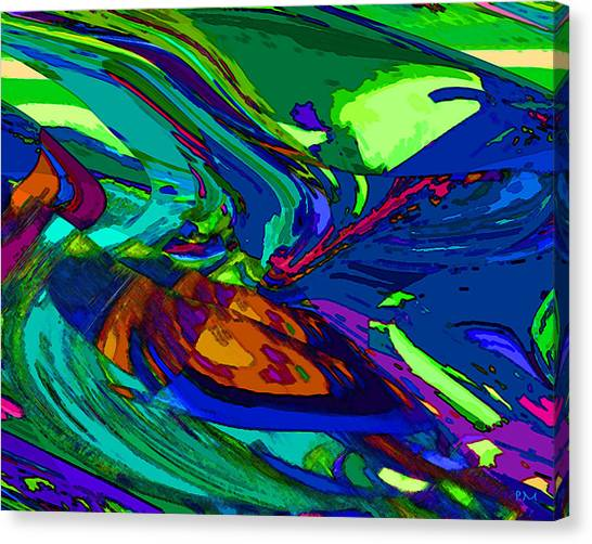 Bending A Note. Canvas Print