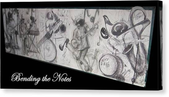 Bending The Notes Canvas Print