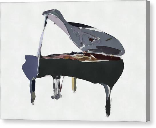 Pianos Canvas Print - Bendy Piano by David Ridley