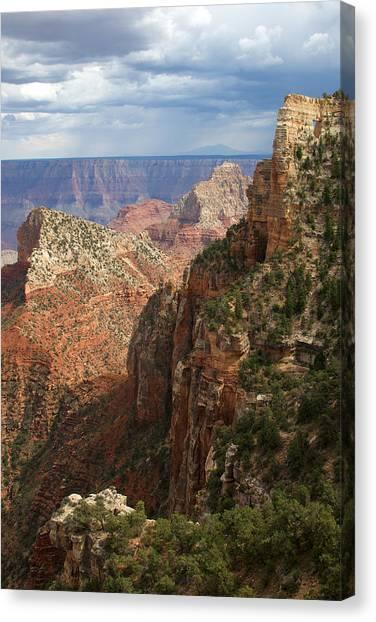 North Rim Canvas Print - View Beneath Angel's Window by Mike Buchheit