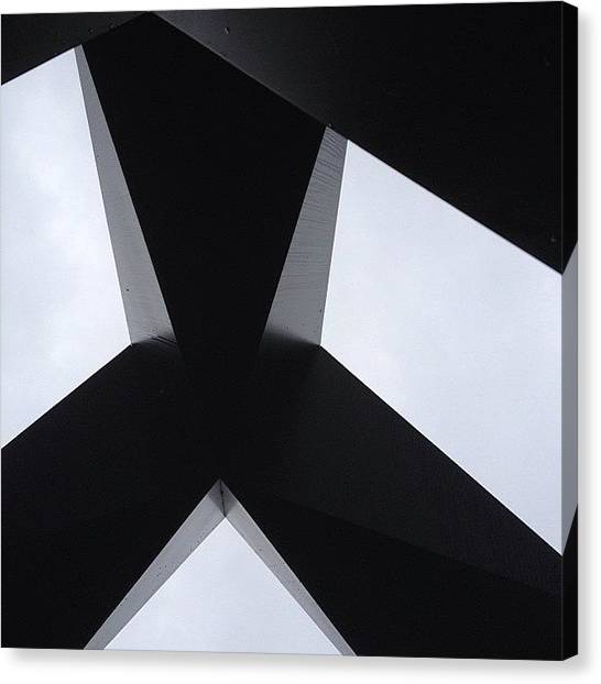 Mac Canvas Print - Beneath The Behemoth In Monotone. Dc by Ramen Mac
