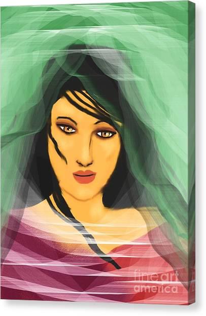 Beneath The Layers Canvas Print by Hilda Lechuga