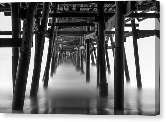 Beneath The Pier Canvas Print