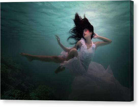 Bride Canvas Print - Beneath The Sea by Martha Suherman