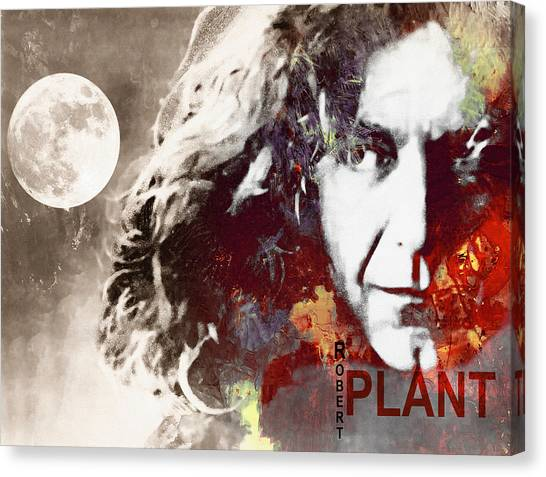 Robert Plant Canvas Print - Beneath The Summer Moon by Steve K