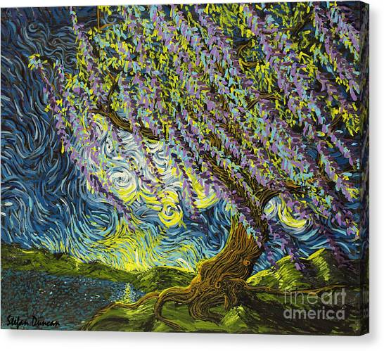 Beneath The Willow Canvas Print