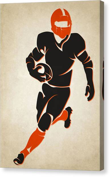 Cincinnati Bengals Canvas Print - Bengals Shadow Player by Joe Hamilton