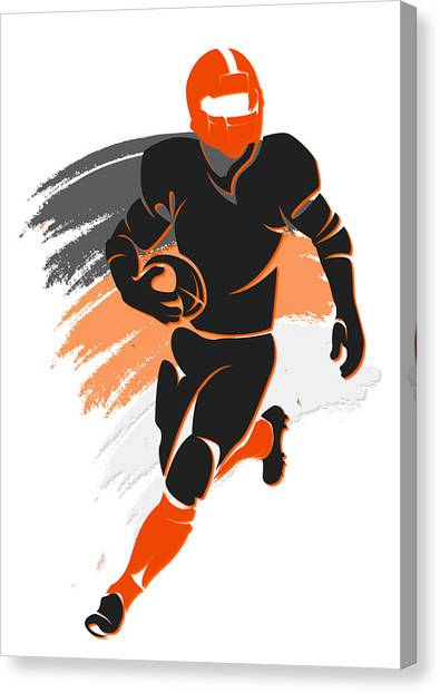 Cincinnati Bengals Canvas Print - Bengals Shadow Player2 by Joe Hamilton