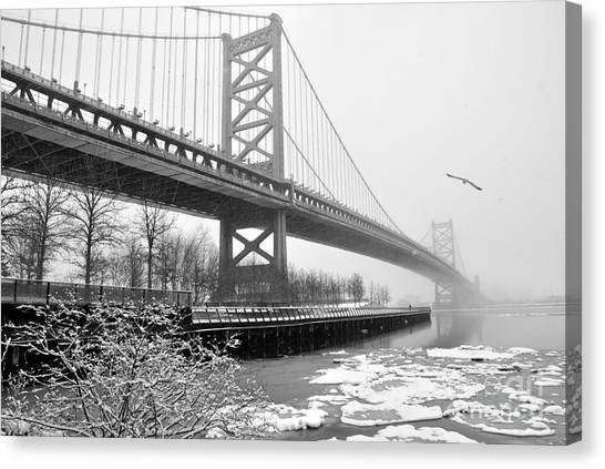 Benjamin Franklin Bridge Canvas Print