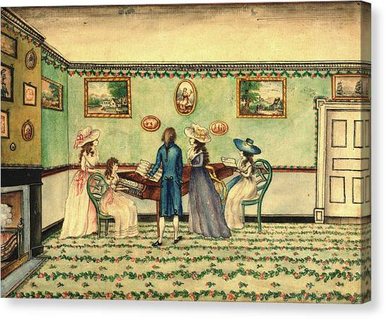 Harpsichords Canvas Print - Benjamin Thompson, Harpsichord Recital At Count Rumfords by Litz Collection