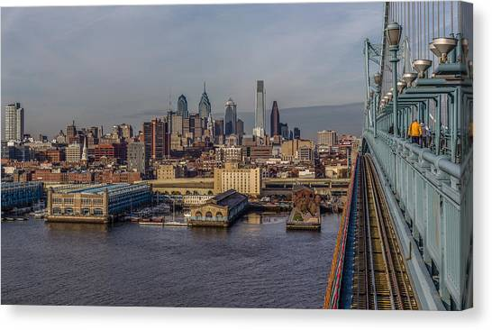 Ben Franklin Canvas Print - Bens Way In by Capt Gerry Hare