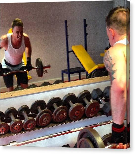 Shoulders Canvas Print - Bent Over Row @mrped #smashing It. #gym by Baz Twyman