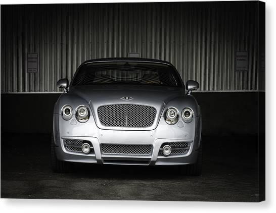Barry Bonds Canvas Print - Bentley Continental Front View by Enrique Morales