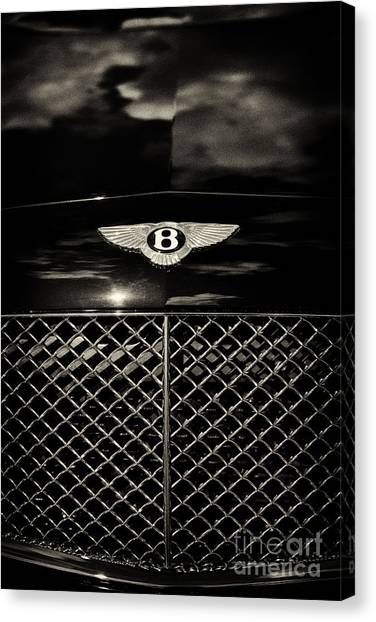 Bentley Continental Gt Sepia Canvas Print