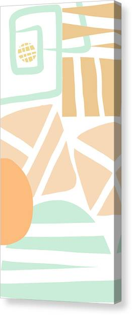 Abstract Art Canvas Print - Bento 3- Abstract Shapes Art by Linda Woods