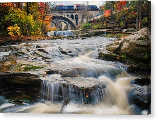 Berea Waterfalls In Autumn Canvas Print