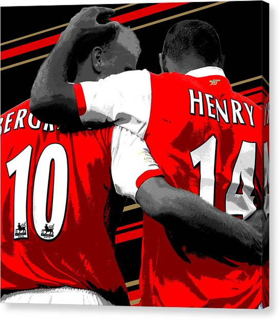 Lionel Messi Canvas Print - Bergkamp And Henry Arsenal Print by Pro Prints