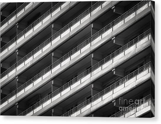 Street Rods Canvas Print - Berlin Balconies by Rod McLean