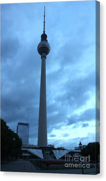 Berlin - Berliner Fernsehturm - Radio Tower No.02 Canvas Print by Gregory Dyer